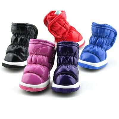 4pcs Dog Pet Shoes Boots Booties for Snow Winter Spring Waterproof Anti-slip UK