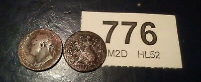 two farthings george1st dump issue and george 4th farthings 1823