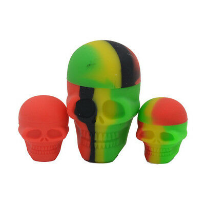 Nonstick Silicone Oil Concentrate Container Jar Vial Screw Skull Jars 15ml