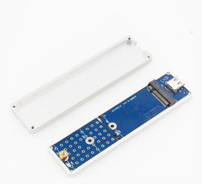 M.2 NGFF SSD TO USB 3.1 TYPE-C External Enclosure Storage Adapter Aluminium Case