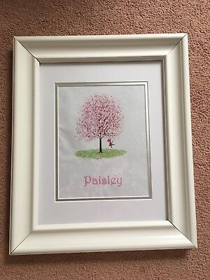 Personalized Print Little Girl On a Swing Nursery Picture Baby Decor Pink 8x10