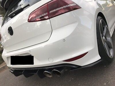 Genuine MAXTON DESIGN Golf MK7R 7R REAR DIFFUSER with REAR SIDE SPLITTERS Sydney