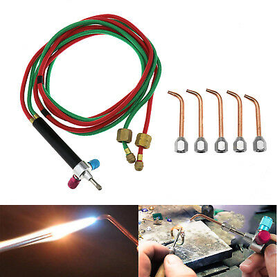 Jewelry Jewelers Micro Mini Gas Little Torch Welding Soldering Kit & 5 Tips Set