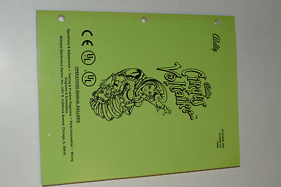 Handbuch / Operations Manual Bally Flipper CIRQUS VOLTAIRE Oktober 1997