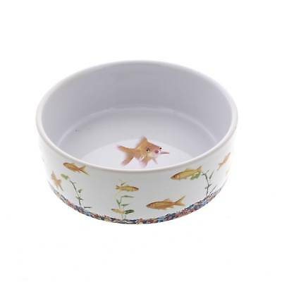 Cat Bowl In The Tank Fish Dishwasher & Microwave Safe Kitten Feed Food