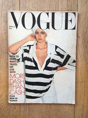 Vogue UK April 15th 1976 Alex Chatelain Carl Andre Toscani Donovan Dylan