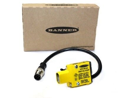 Banner SM312LVAGQDP Mini Beam Photoelectric Sensor 28155 - New In Box