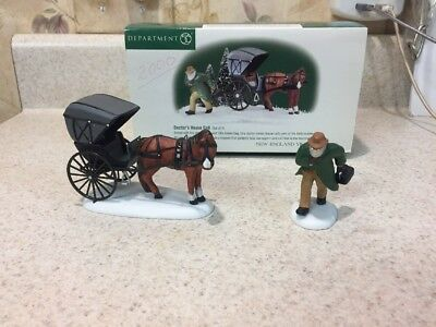 Department 56 New England Village Doctors House Call Set Of 2 Figurines