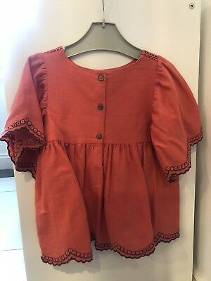 Next Girls 2-3 Coral Flouncy Blouse. New With Out Tags