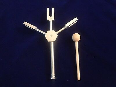 Angel Tuning forks with stand for easy grip having Gem stone +Wood Mallet