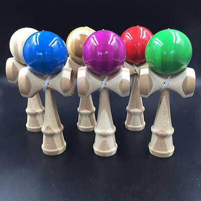 1x Kendama Japanese Traditional Game Educational Skillful Wooden Toy & Holder Fg