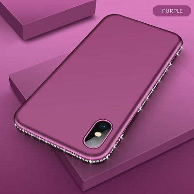 Luxury Bling Rhinestone Silicone Phone Case For iPhone XS XR XS Max Case