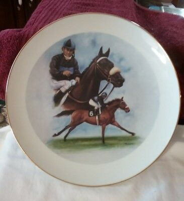 """Racing """"John Henry"""" ltd. ed.collectable plate Patty Kessel 2003 10 1/4 preowned"""