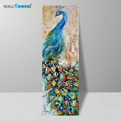 Hand Painted Knife Pop Art Animal Oil Canvas Painting Peacock Picture Home Decor