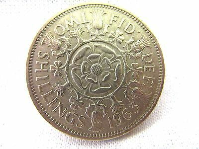 Uk Coin-1963, Two Shillings--       #62.5/29*