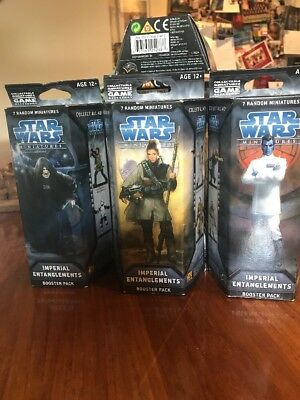 Star Wars Miniatures.Imperial Entanglements Booster. Brand New. 3 to choose from