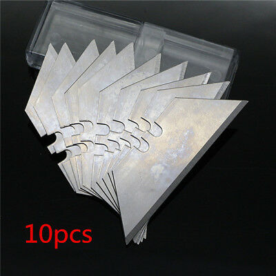 10pcs 0.6mm Trapezoid razor Blades Utility Replacement Blade Fit For Stanley