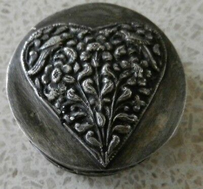 Authentic Arts & Crafts White Metal Snuff / Trinket Box