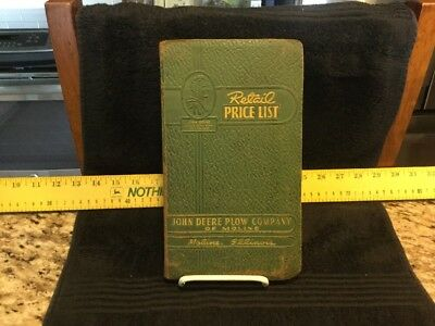 Vintage 1951 John Deere Plow Company Moline (Moline, Illinois) Price List Manual