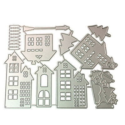 Christmas House Cutting Dies Stencil DIY Scrapbooking Paper Card Embossing Craft