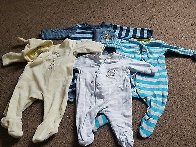 Baby Boy Newborn & up to one month Sleepsuits Next Mothercare bundle