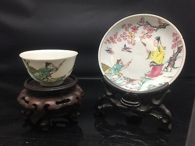 Rare Chinese Families Rose Cup And Sauce Yongzheng Period 18th Century