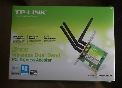 TP-Link N900, Model No. TL-WDN4800, Wireless Dual Band PCI Express Adapter