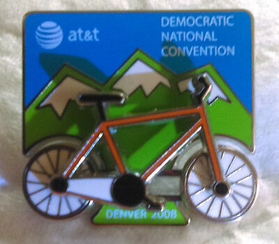 2008 Democratic National Convention Denver Bicycle Pin Bike Moves Obama