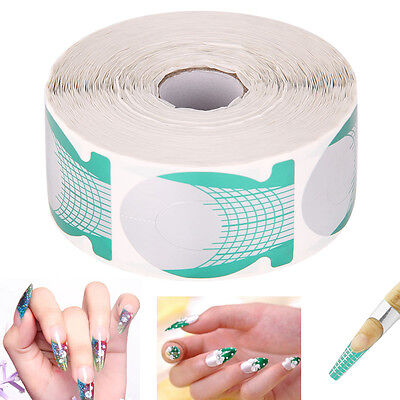 500pcs Nail Art Form Sticker Large Extension Guide DIY Acrylic Tips UV Gel HK