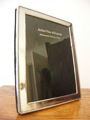 "A HALLMARKED LONDON 2000 SOLID SILVER PHOTO PICTURE FRAME 8.5"" x 6.5"" INCHES"