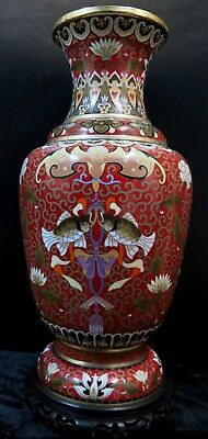 Large Early 20th Century Chinese Cloisonne' Vase