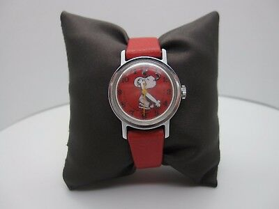 Vintage 1958 United Feature Snoopy Analog Self Wind Dial Watch (A367)