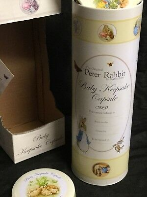 Beatrix Potter Peter Rabbit Baby Time Capsule / First Year Record