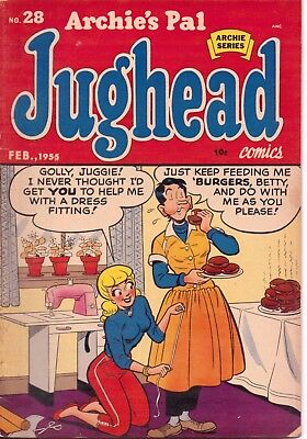 Archie's Pal Jughead Comic Book #28  1955