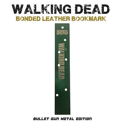 The Walking Dead Bookmark Bonded Leather Rick Grimes Negan - Bullet Hole Edition