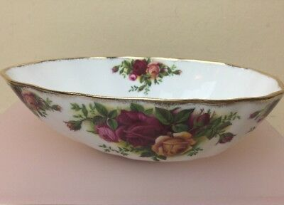 Royal Albert Old Country Roses Avocado Dish Early Stamp Mint Unused 1st Quality