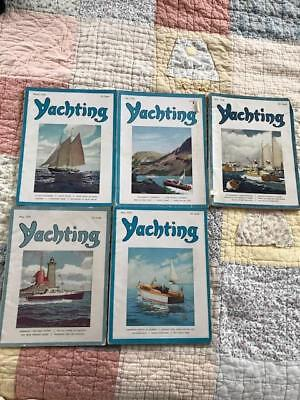Yachting Magazine Five (5) Rare Vintage Issues 1948,1950,1951