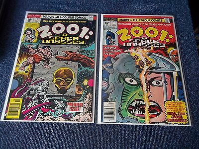2001 A Space Odyssey #1 & 2, Jack Kirby C/A,1976,VF/NM,See Others & Combine,$50