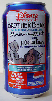 2004 12 oz. PEPSI CAN ( DISNEY PRESENTS BROTHER BEAR ) BOTTOM OPENED