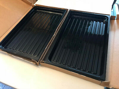 Lot (2) Cambro Camwear Food Service Catering Display Case Trays - Black - 12x20""