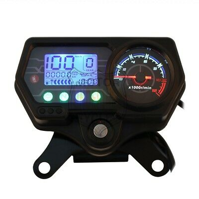 Motorcycle LED Backlight Odometer Speedometer Electronic Lock For Honda CG125