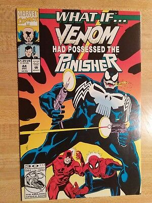 What If...? #44 1992 Marvel What if Venom had Possessed the Punisher? 🔥🔥🔥🔥🔥