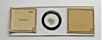 Early  MICROSCOPE SLIDE by J.D. MOLLER,  of  TRACHYTE