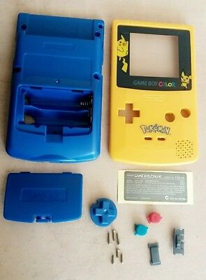 Coque Game Boy Color Pokemon Pikachu Remplacement Nintendo Eur 15
