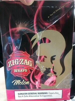 Zig Zag Wraps Melon 50 Wraps Total 25 Packs Per Box Fast Free Shipping
