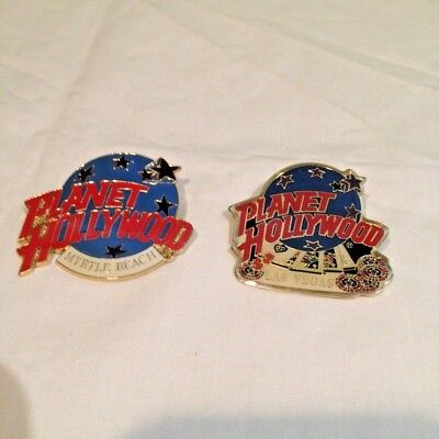 Lot Of 2 Planet Hollywood Metal Pins Myrtle Beach And Las Vegas