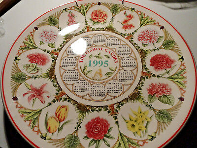 assiette Wegwood Calendar 1995 the floral garden