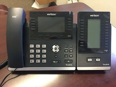 Verizon Business Phone System Lot of (24)Yealink SIP-T46G (6)EXP40 (2)BT40