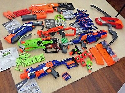 Nerf Gun Lot with accessories and instructions