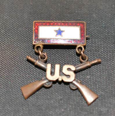 WW2 Blue Star Infantry Son in Service Pin